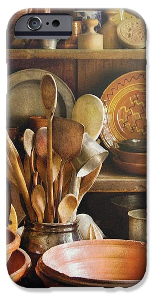 Utensils - Remembering Momma iPhone Case by Mike Savad