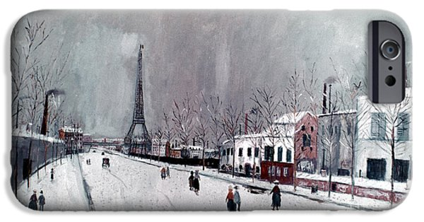 19th Century iPhone Cases - Utrillo: Eiffel Tower iPhone Case by Granger
