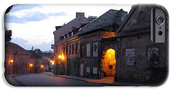 Recently Sold -  - Night Angel iPhone Cases - Uzupis street. Old Vilnius. Lithuania. iPhone Case by Ausra Paulauskaite
