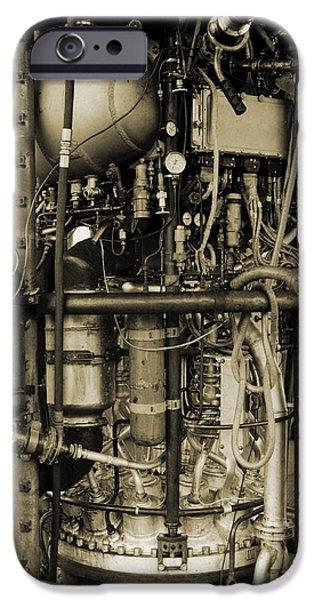 V2 Rocket iPhone Cases - V-2 Rocket Engine iPhone Case by Detlev Van Ravenswaay