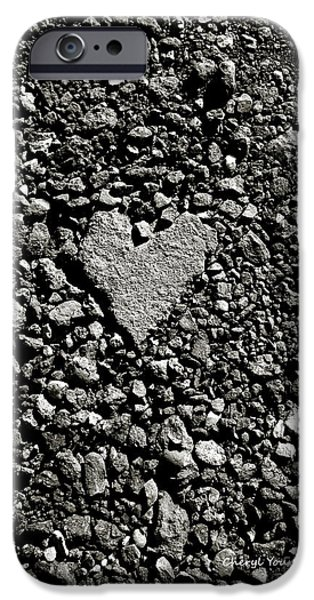 Asphalt iPhone Cases - Valentine in the Asphalt iPhone Case by Cheryl Young
