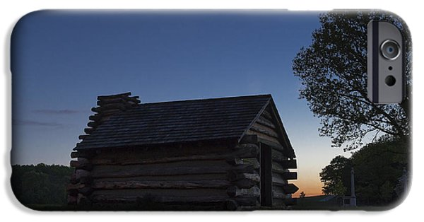 American Revolution iPhone Cases - Valley Forge Infantry Cabin iPhone Case by John Greim