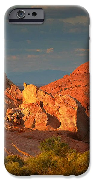 Valley of Fire - Picturesque desert iPhone Case by Christine Till