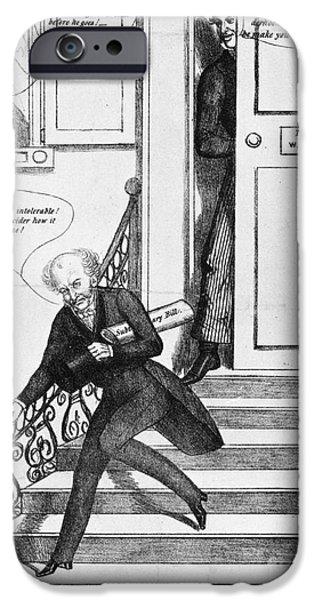 Inauguration iPhone Cases - Van Buren Cartoon, 1841 iPhone Case by Granger