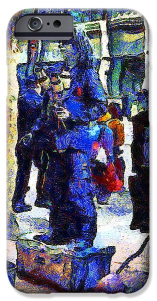 Jugglers iPhone Cases - Van Gogh Is Captivated By A San Francisco Street Performer . 7D7246 iPhone Case by Wingsdomain Art and Photography