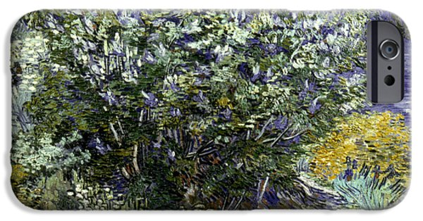 19th Century iPhone Cases - VAN GOGH: LILACS, 19th C iPhone Case by Granger