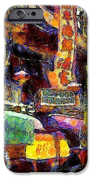 Van Gogh Meets Up With The Screamer in San Francisco Chinatown . 7D7174 iPhone Case by Wingsdomain Art and Photography