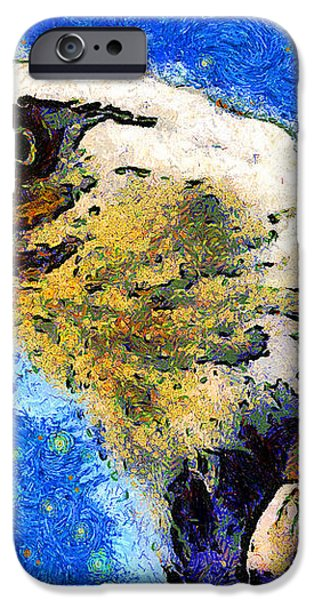 Van Gogh.s American Eagle Under A Starry Night . 40D6715 iPhone Case by Wingsdomain Art and Photography