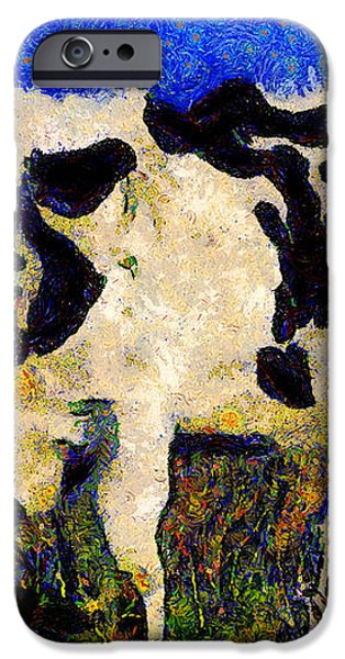 Van Gogh.s Big Bull . 7D12437 iPhone Case by Wingsdomain Art and Photography