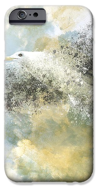 Vanishing Seagull iPhone Case by Melanie Viola