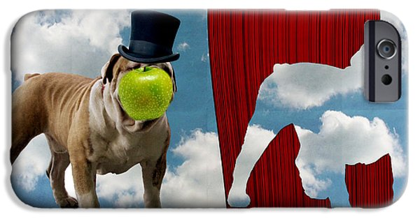 Surrealism Digital iPhone Cases - Variation on Magritte iPhone Case by Anthony Caruso