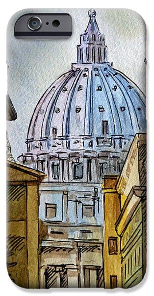 Vatican iPhone Cases - Vatican City iPhone Case by Irina Sztukowski