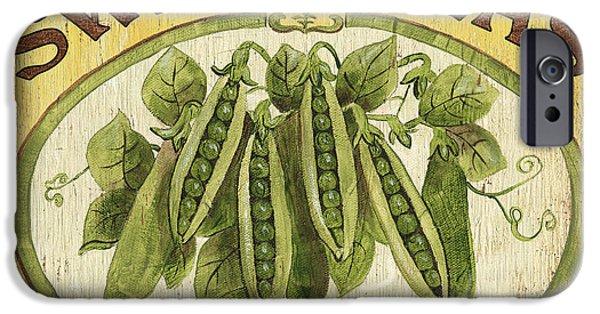 Organic Paintings iPhone Cases - Veggie Seed Pack 1 iPhone Case by Debbie DeWitt
