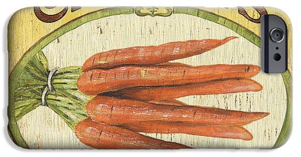 Organic Paintings iPhone Cases - Veggie Seed Pack 4 iPhone Case by Debbie DeWitt