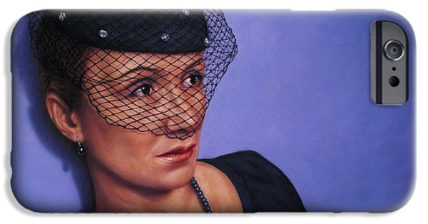 Hats iPhone Cases - Veiled iPhone Case by James W Johnson