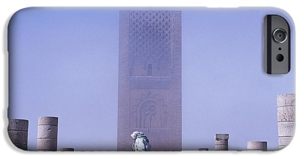 Rabat Photographs iPhone Cases - Veiled Woman Walking Infront Of Hassan iPhone Case by Axiom Photographic