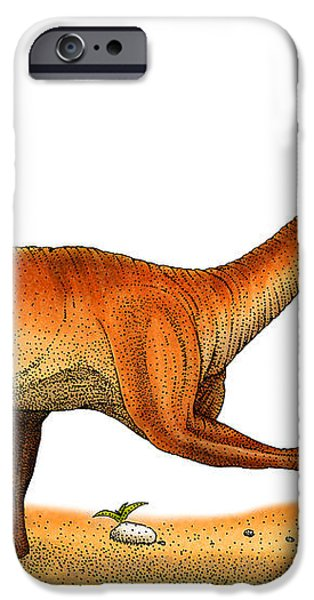 Velociraptor iPhone Case by Roger Hall and Photo Researchers