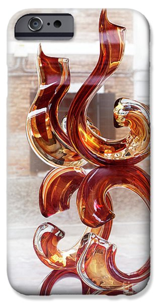 Venetian Doors iPhone Cases - Venetian glass style iPhone Case by Heiko Koehrer-Wagner