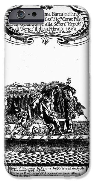 VENETIAN GONDOLA, c1689 iPhone Case by Granger