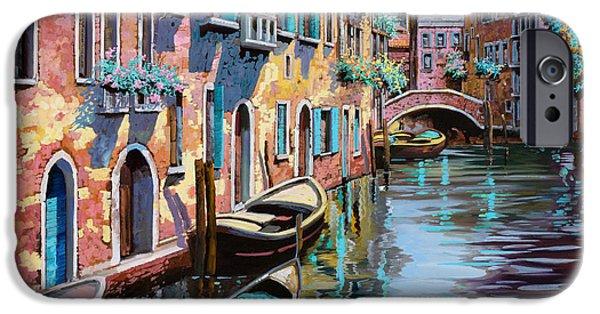 Interior Designers - iPhone Cases - Venezia In Rosa iPhone Case by Guido Borelli