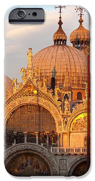 Venice Church of St. Marks at sunset iPhone Case by Heiko Koehrer-Wagner