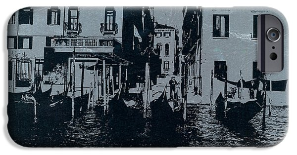 Towns Digital Art iPhone Cases - Venice iPhone Case by Naxart Studio