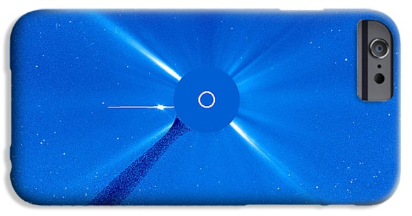 Disc iPhone Cases - Venus Approaches The Sun iPhone Case by Nasa