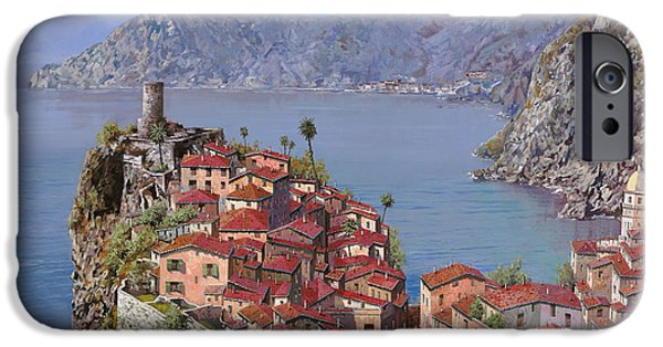 Village Paintings iPhone Cases - Vernazza-Cinque Terre iPhone Case by Guido Borelli
