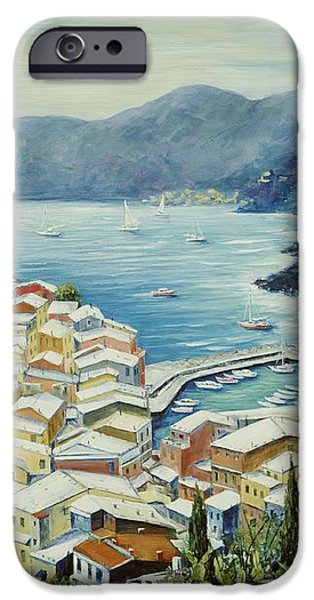 Vernazza Cinque Terre Italy iPhone Case by Marilyn Dunlap