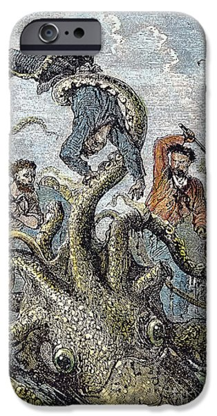 VERNE: 20,000 LEAGUES, 1870 iPhone Case by Granger