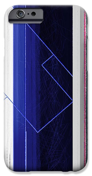 Vertical Rain iPhone Case by Naxart Studio