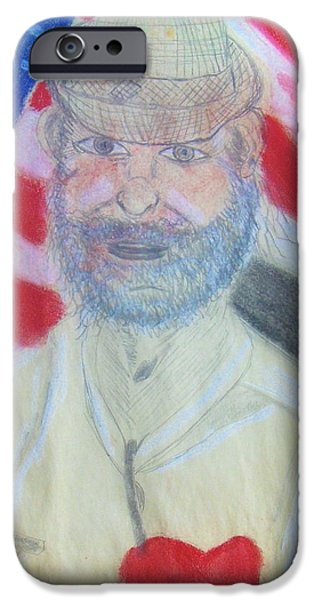 War Pastels iPhone Cases - Veteran Mike iPhone Case by M and L Creations
