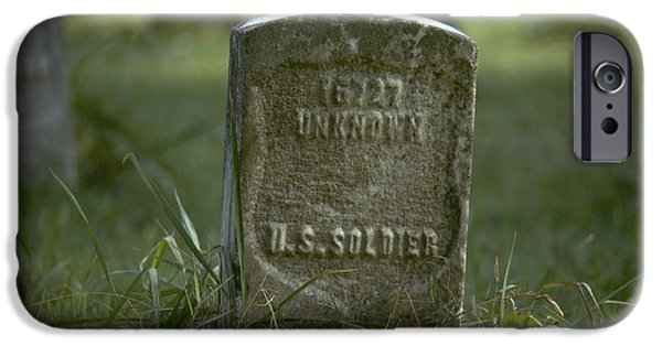 Cemetary iPhone Cases - Vicksburg: Tombstone iPhone Case by Granger