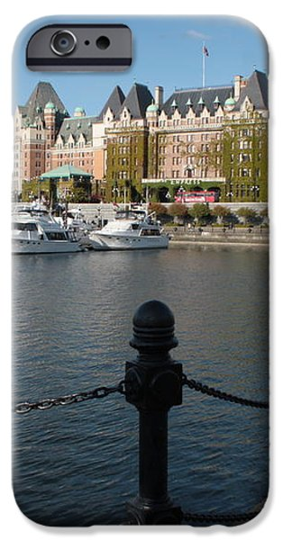 Victoria Harbour with Railing iPhone Case by Carol Groenen