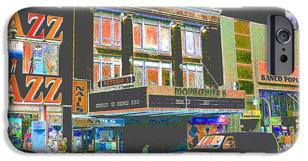 Harlem iPhone Cases - Victoria Theater 125th St NYC iPhone Case by Steven Huszar