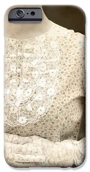 victorian dress iPhone Case by Joana Kruse