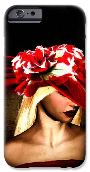 Countess iPhone Cases - Victorian Times iPhone Case by Lourry Legarde