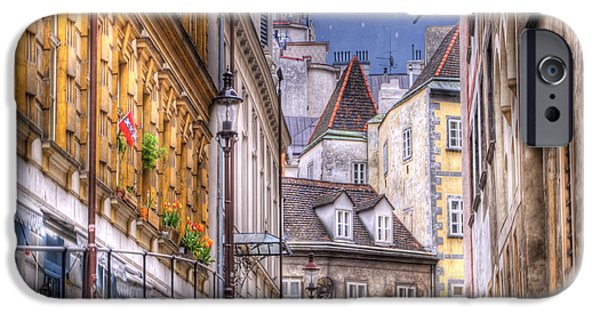Greek Sculpture iPhone Cases - VIENNA Cobblestone Alleys and Forgotten Streets iPhone Case by Juli Scalzi