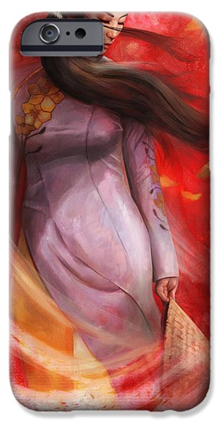 Painterly iPhone Cases - Vietnam iPhone Case by Steve Goad