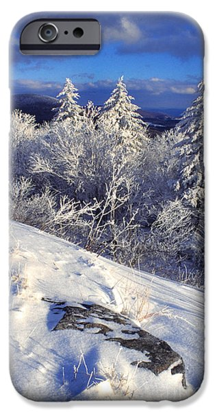 Frigid iPhone Cases - View along Highland Scenic Highway iPhone Case by Thomas R Fletcher