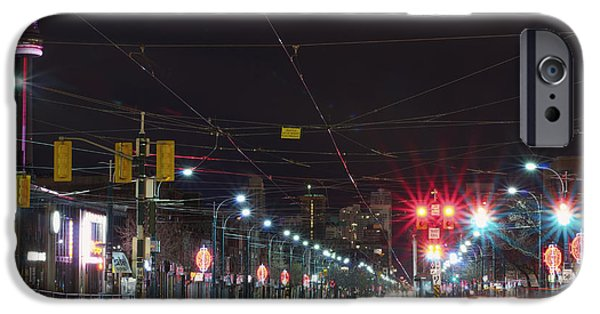Absence iPhone Cases - View Down Spadina Ave At Night. An iPhone Case by Will Burwell