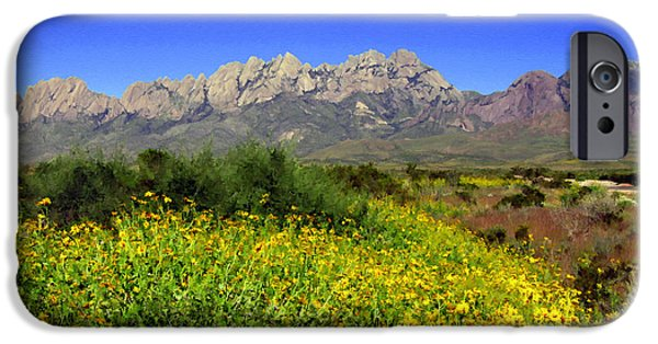 Las Cruces Digital Art iPhone Cases - View from Dripping Springs Rd iPhone Case by Kurt Van Wagner