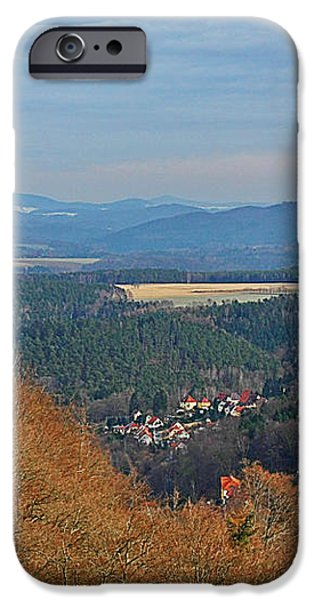 View from Koenigstein Fortress Germany iPhone Case by Christine Till