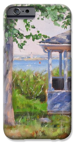Boston Ma iPhone Cases - View from Pointe Allerton iPhone Case by Laura Lee Zanghetti