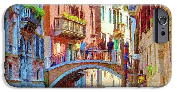 Balcony Digital Art iPhone Cases - View from the Canal iPhone Case by Jeff Kolker