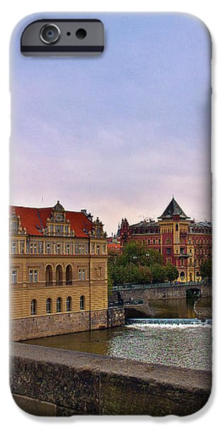 View from the Charles Bridge Revisited iPhone Case by Madeline Ellis