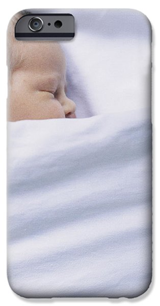 Premature Babies iPhone Cases - View Of A Premature Baby Asleep In A Cot iPhone Case by Mauro Fermariello