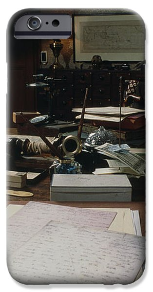 View Of Darwin's Desk At Down House iPhone Case by Volker Steger
