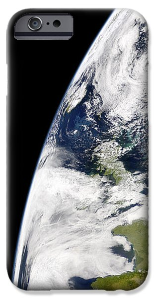 View Of Earth From Space Showing iPhone Case by Stocktrek Images