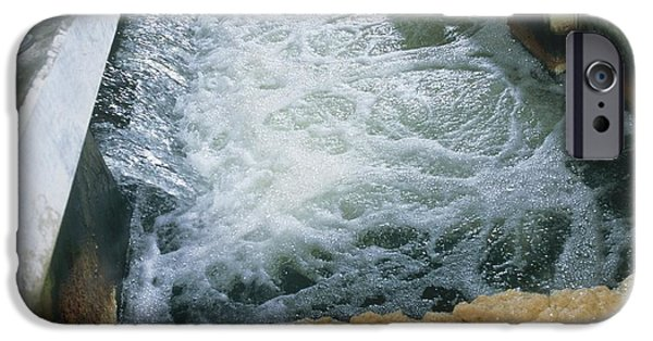 Waste Water iPhone Cases - View Of Flotation Waste Water Treatment iPhone Case by Tek Image
